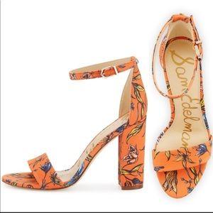 Sam Edelman YARO floral block strappy heel size 9